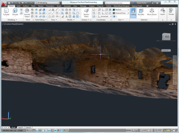 AutoCAD 2017 handling point-cloud data.