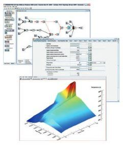 ANSYS Chemkin-Pro simulates chemical reactions in combustion chambers. (Image courtesy of ANSYS.)