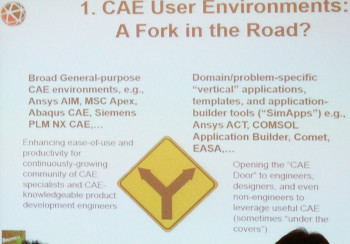 Dennis Nagy, Principal of BeyondCAE, in his recent keynote at the NAFEMS conference