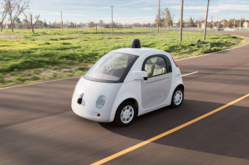 Google's self-driving prototype. (Image courtesy of Google.)