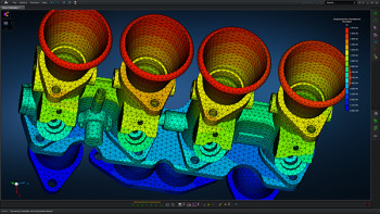 Engine subassembly undergoing an eigenvalue analysis. (Image courtesy of MSC Software.)