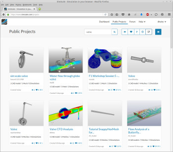 Screen shot of SimScale's CAE platform on the cloud.