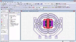Designing a MEMS using Tanner. (Image courtesy of Mentor Graphics.)