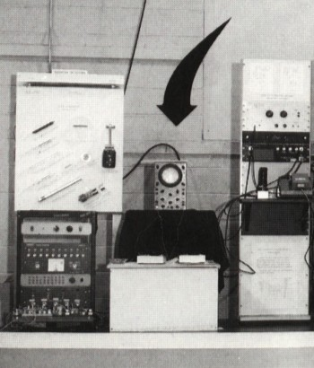 The Tennis for Two apparatus, including oscilloscope, two controllers and analog computer.