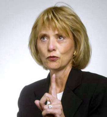 "The very business-minded Carol Bartz, CEO of the ""second era"" of Autodesk. (Image courtesy of SFgate.com.)"