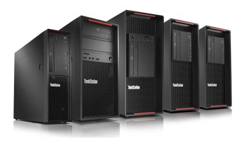 The ThinkStation family of workstations. Now with upgraded GPUs. (Image Courtesy of Lenovo)
