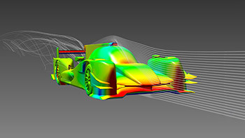 Neat streamlines over race car mislead by ignoring the details of turbulence.(Image courtesy of ANSYS.)