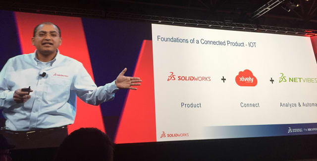 """AN IoT BELIEVER. SOLIDWORKS' Kishore Boyalakuntla believes in IoT and that SOLIDWORKS can play a leading role when companies are shifting from designing traditional """"un-connected"""" products to """"connected"""" products."""