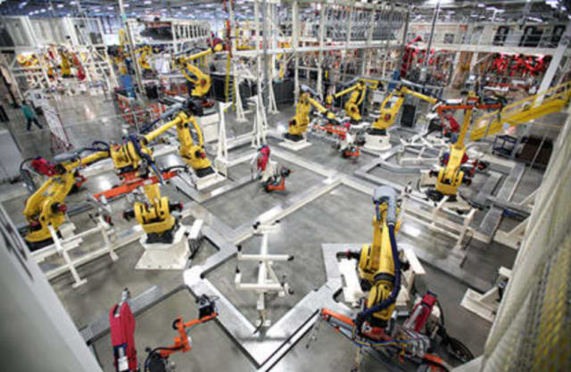 Smart Factories in Industry 4.0 may be completely human-independent. (Image courtesy of PTC.)