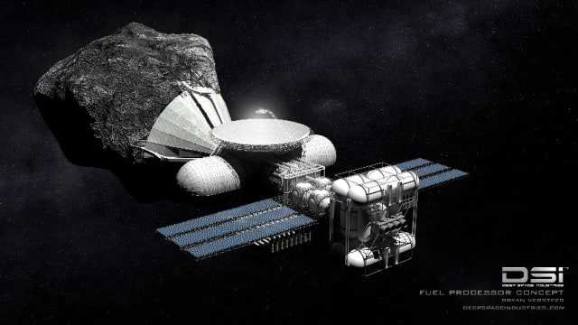 Will this be what asteroid mining looks like? (Image Courtesy of DSI.)
