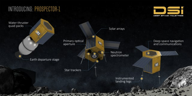 Design concept for a prospecting spacecraft. (Image courtesy of DSI.)