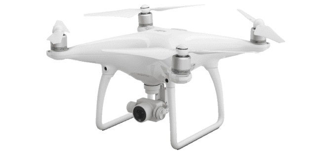 A DJI Phantom 4 quadcopter (example of a multirotor drone). (Image courtesy of DJI.)