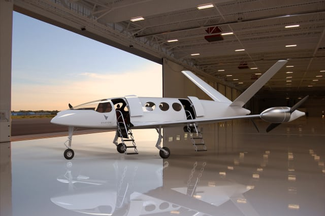 The Eviation electric aircraft is designed to take nine passengers up to 1,000km at more than 240kts for the same price as a train ticket. (Image courtesy of Eviation.)