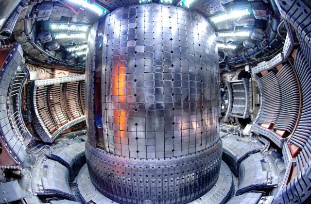 Inside the Alcator C-Mod tokamak fusion reactor. (Image courtesy of Wikimedia Commons.)