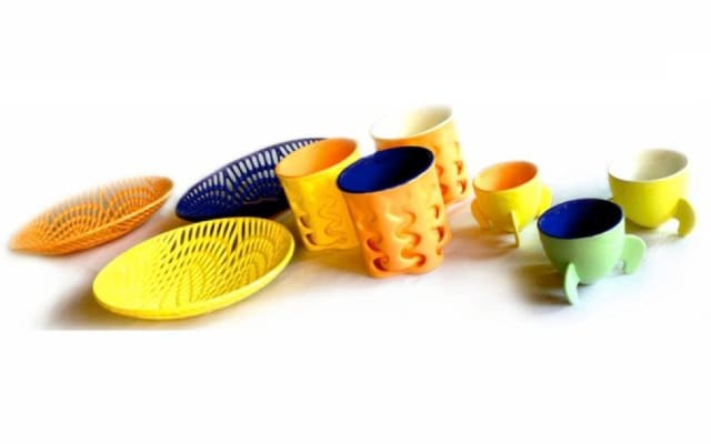 Ceramic objects made via ceramic 3D printing technology from Figulo, which was acquired by 3D Systems. (Image courtesy of 3D Systems.)