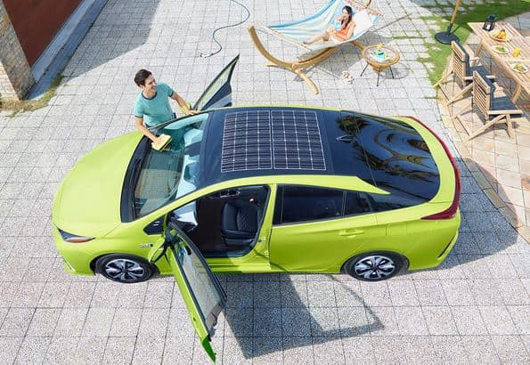 Prius with Solar Roof. Image Courtesy of Toyota