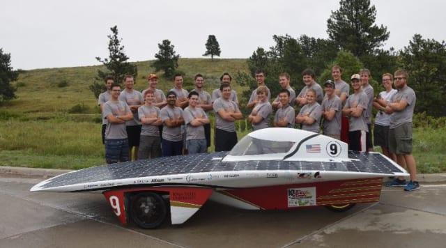 The PrISUm team with its 2016 Solar Car, Phaeton 2