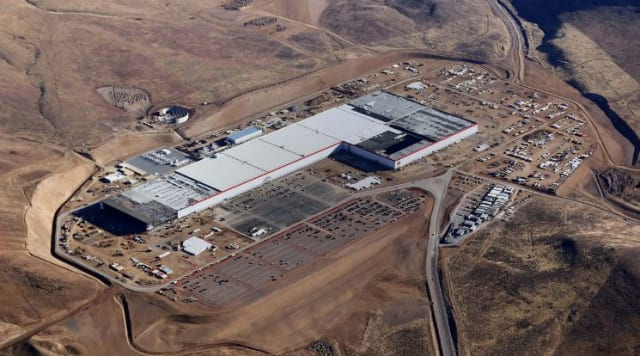 Tesla Gigafactory (still not quite completed) near Reno, NV. Image by Tesla Energy