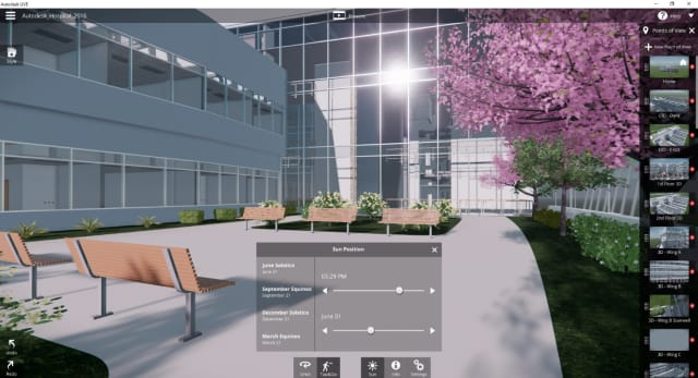 Autodesk Revit Live editing tools. (Image courtesy of Autodesk.)