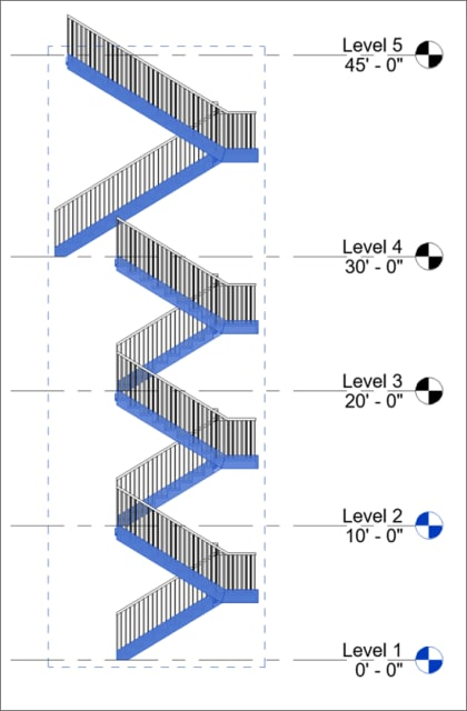 Depiction of the new Multistory Stair tool. (Image courtesy of Autodesk.)