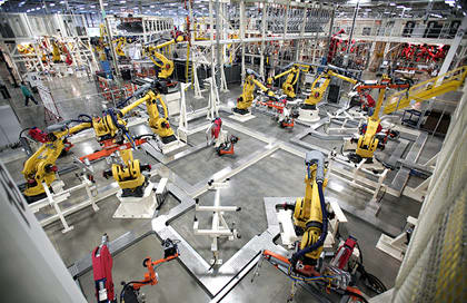 Manufacturing is one of the of the industries PTC and Deloitte will focus on in co-creating their IoT solutions. (Image courtesy of PTC.)