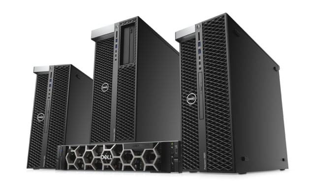 The new Precision Tower 7920, 7820 and 5820, and Rack 7920. (Image courtesy of Dell.)