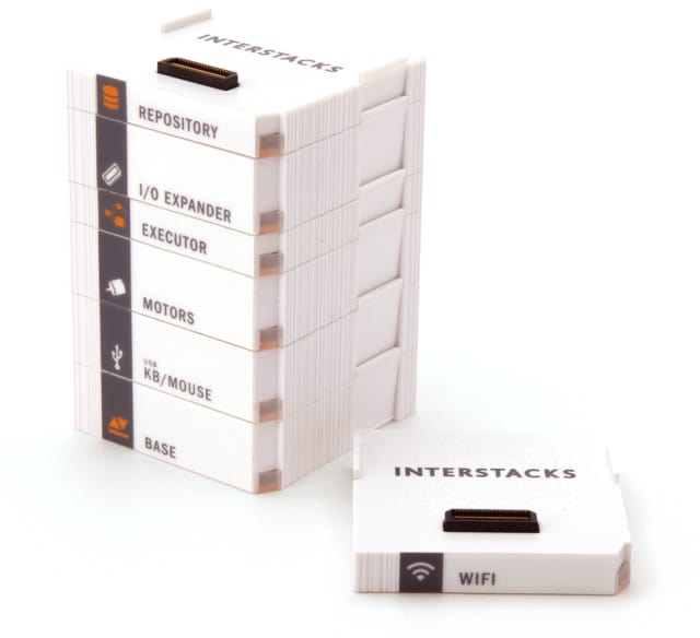 Several different types of Interstacks blocks are available for IoT design. (Image courtesy of Interstacks.)