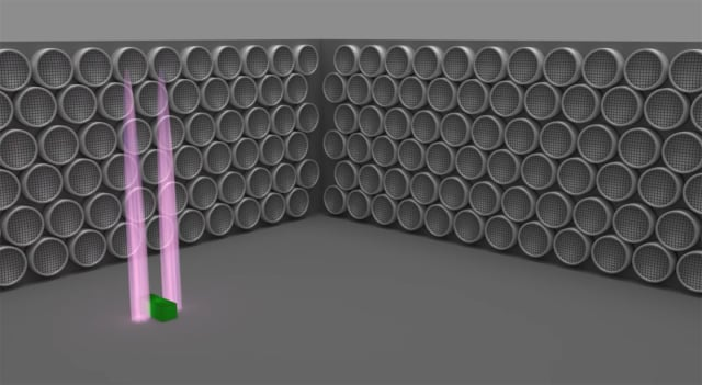 A rendering of Neurotechnology's ultrasonic manipulation technique. (Image courtesy of Neurotechnology/YouTube.)