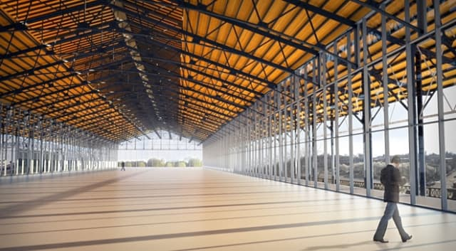 Rendering of the Main Street Station train shed in Richmond. (Image courtesy of the city Of Richmond.)