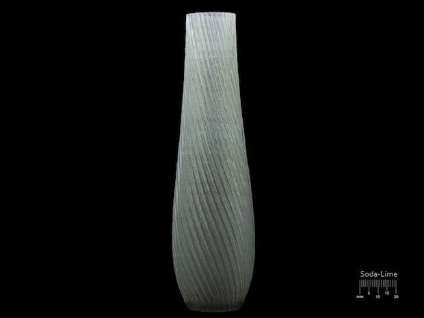 A vase 3D printed from Soda-Lime glass. (Image courtesy of Micron3DP.)