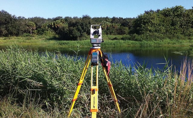 LIDAR equipment like this 3D scanner is used to capture point cloud models, which are a collection of captured points in a three-dimensional coordinate system. (Image courtesy of Topcon).