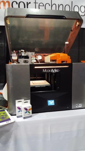 The Mcor ARKe printer at SOLIDWORKS World.