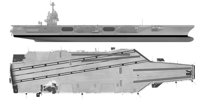The infrastructure is flexible and can be adapted to changes by reconfiguring compartments to optimize for different missions, saving time and money while avoiding the costly re-work that would create bottlenecks in the Nimitz-class carriers. (Image courtesy of US Navy.)