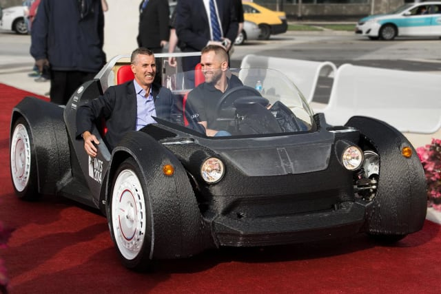 The 3D-printed Strati concept car from Local Motors. (Image courtesy of Volim Photo.)