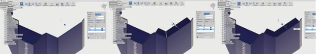 A miter flange is created with the same tool, with gaps either turned on or off. (Image courtesy of Autodesk.)