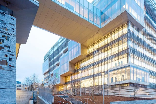 Lance Borst and his team managed 40-plus subcontractors, architects and engineering firms on the Novartis site. (Image courtesy of Skanska.)