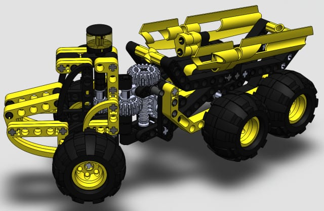 Lego Truck. Lauris Kūms, second year, medical engineering and physics, fall 2013 semester.