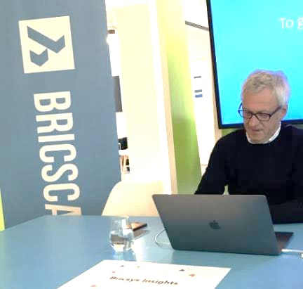 Figure 3. CEO Erik de Keyser leads off Bricsys Insights at the company headquarters in Ghent, Belgium.