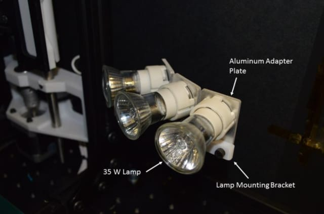 IR heating lamp unit. (Image courtesy of NASA.)