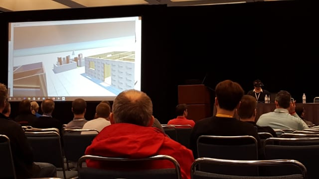 Bringing CAD to VR session showing house layouts created in CAD software.