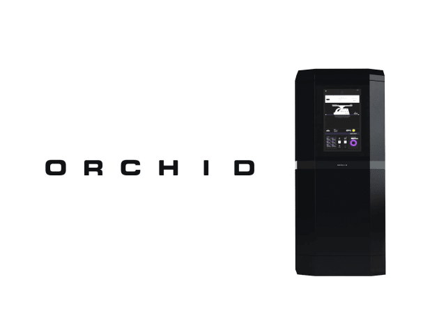 The Orchid 3D printer has a build volume of 14 in (355 mm) x 12 in (304 mm) x 8 in (203 mm) and a vertical speed of 14.2 in/hr (36 cm/hr). (Image courtesy of Collider.)