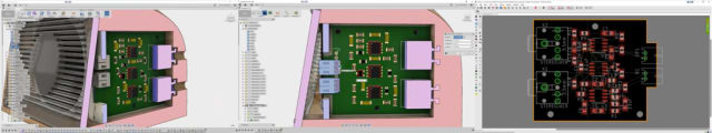 In Fusion, the PCB can be modified and the resulting PCB design can be sent back to Eagle. (Images courtesy of Autodesk.)