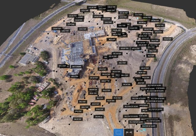 Aerial data captured from a DJI drone at the Florida Hospital Apopka project. (Image courtesy of Brasfield & Gorrie.)