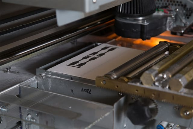 An MJF testbed for printing test coupons and other parts to determine material printability within the lab. (Image courtesy of HP.)
