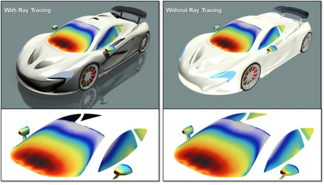 Ray tracing renders object detail while maintaining simulation accuracy. (Image courtesy of Siemens PLM Software.)