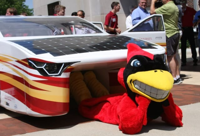 Penumbra with ISU Mascot Cy the Cardinal
