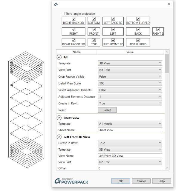 Figure 11. The View Sheet Generator.