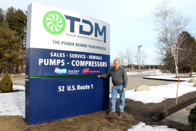 Rick Chapman, developer of the SealSaver, stands outside his office. Chapman's innovations, developed using Solid Edge, help ski resorts across North America save water, energy and money in their snowmaking operations by improving the efficiency of vertical turbine pumps.