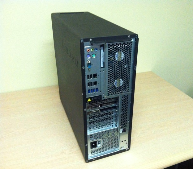 P700 workstation, rear view. (Image courtesy of the author.)
