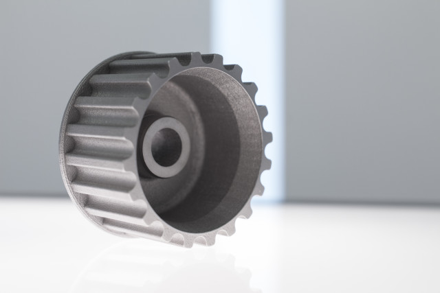 A direct metal pump part created by Metal Technology Inc. (Image courtesy of MTI.)